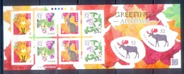 D103-  JAPAN SELF ADHESIVE STAMPS. GREETINGS AUTUMN. ANIMALS. FLOWERS. PLANTS. - 1989-... Emperor Akihito (Heisei Era)