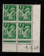 Coin Daté - Iris YV 432 N** Du 5.6.40 - 1940-1949