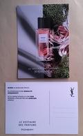 Carte Promo Perfume Card BLOUSE * LE VESTIAIRE DES PARFUMS * YVES SAINT LAURENT YSL * R/V - Parfumkaarten