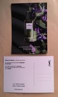 Carte Promo Perfume Card GRAIN DE POUDRE * LE VESTIAIRE DES PARFUMS * YVES SAINT LAURENT YSL * R/V - Parfumkaarten