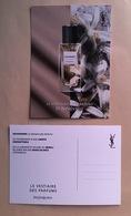 Carte Promo Perfume Card SAHARIENNE * LE VESTIAIRE DES PARFUMS * YVES SAINT LAURENT YSL * R/V - Parfumkaarten