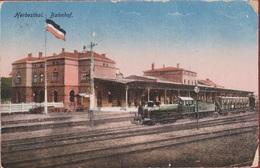 Herbesthal Bahnhof Lontzen 1918 Train A Vapeur Locomotive Locomotief Stoomtrein - Lontzen