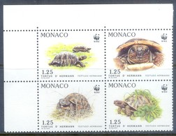 D122- WWF Set Of Monaco. Turtle. Plants. - W.W.F.