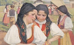 1925'S FOLK COSTUMIES. CESKOSLOVENSKE NARODNIE KROJE. COSTUMES NATIONAUX TSCHEQUOSLOVAQUES- BLEUP - Costumes
