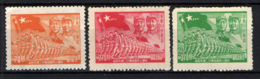 CINA ORIENTALE - 1949 - CHU TEH, MAO TSE-TUNG - TRUPPE MILITARI CON BANDIERE DELLA CINA - NUOVI SENZA GOMMA - Western-China 1949-50