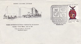 1983 SPECIAL COVER MEXICO- CENTRO CULTURAL DIFOCUR, 1RA EXPO FILATELICA Y NUMISMATICA DE CULIACAN, CANCELACION - BLEUP - Mexique