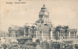 CPA - Belgique - Brussels - Bruxelles - Palais De Justice - Spoorwegen, Stations