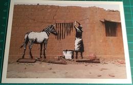 Zebra Stripes On Washing Line ~ Banksy - Schilderijen