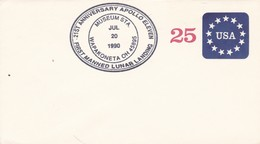 1990 SPECIAL COVER USA- FIRST MANNED LUNAR LANDING 21ST ANNIVERSARY APOLLO ELVEN- BLEUP - Nordamerika