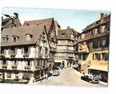 68 Colmar Rue Des Marchands Et Auberge Du Fer Rouge Vieille Voiture Auto Citroen Ds 2cv CPSM GF Edit Estel N°27257 Photo - Colmar