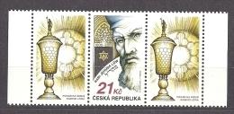 Czech Republic 2009 MNH ** Mi 599 2Zf Sc 3423 Rabbi Jehuda Löw. With 2 Coupons. Tschechische Republik. - Czech Republic