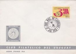 1986 FDC COVER URUGUAY-3° JUNTA INTERAMERICANA DE AGRICULTURA- BLEUP - Agriculture