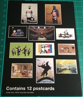 Postcard From Box Depicting Banksy Postcards ~ Banksy - Schilderijen