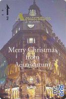 Carte Prépayée Japon - MODE Anglaise - AQUASCUTUM OF LONDON / Fashion England NOEL CHRISTMAS  Japan Prepaid QUO Card 125 - Christmas