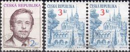 REPUBBLICA CECA 1993/1994 - VACLAV HAVEL + MONUMENTI, BRNO - 3 SERIE COMPLETE USATE - Tschechische Republik