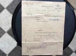 RÉPUBLIQUE FRANÇAISE  Conseil De Guerre  16e DIVISION D'INFANTERIE 8e Corps D'Armee  JUILLET 1917 - Documents