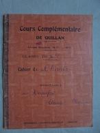 Ancien - Cahier De Chants Cours Complémentaire De Quillan Années 50 - Autres