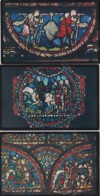 CANTERBURY CATHEDRAL. STAINED GLASS WINDOWS.  6 CARDS - Canterbury