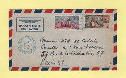 Cote Francaise Des Somalis - Djibouti - 6-1-1951 - Destination France - Côte Française Des Somalis (1894-1967)