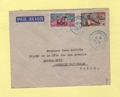Cote Francaise Des Somalis - Djibouti - 24-4-1951 - Destination France - Côte Française Des Somalis (1894-1967)