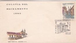 1970 FDC COVER URUGUAY- COLONIA DEL SACRAMENTO- BLEUP - Uruguay