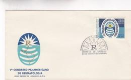 1970 FDC COVER URUGUAY- V CONGRESO PANAMERICANO DE REUMATOLOGIA- BLEUP - Médecine
