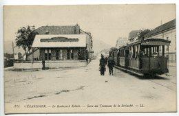 CPA * GÉRARDMER Le Boulevard Kelsch Gare Du Tramway De La Schlucht ( Beau Plan Sur Le Tram ) - Gerardmer