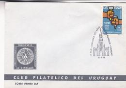1992 FDC COVER URUGUAY- LA PAZ. CANELONES 120 AÑOS- BLEUP - Uruguay