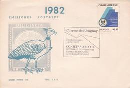1982 FDC COVER URUGUAY- CONJEFAMER XXII. SISTEMA DE COOPERACION ENTRE LAS FUERZAS AEREAS AMERICANAS- BLEUP - Uruguay