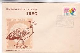 1980 FDC COVER URUGUAY- 50 ANIVERSARIO DE LA ASOCIACION DE IMPRESORES DEL URUGUAY- BLEUP - Uruguay