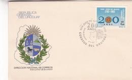 1984 FDC COVER URUGUAY- SAN JOSE DE MAYO, 200 AÑOS- BLEUP - Uruguay