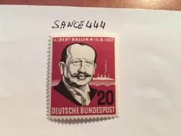 Germany A. Ballin Shipping Magnate 1957 Mnh - [7] Federal Republic