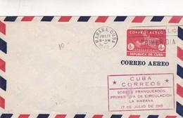 1949 FDC COVER CUBA- SEA FILATELICO, PRIMER DIA, SOBRES FRANQUADOS PRIMER DIA. ENTERO- BLEUP - FDC