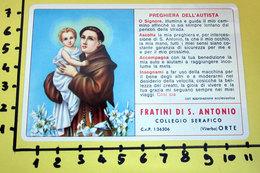FRATINI DI S. ANTONIO 1968 PLASTIFICATO CALENDARIO TASCABILE - Formato Piccolo : 1961-70