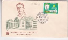 1970 FDC COVER COLOMBIA- INSTITUTO DE CREDITO TERRITORIAL- BLEUP - Colombie