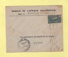 Cameroun - Douala - 9-11-1944 - Controle Postal - Destination Alger - Kamerun (1915-1959)
