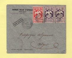 AEF - Brazzaville - 28 Nov 1944 - Controle Postal - Destination Alger - Lettres & Documents