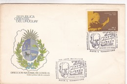 1990 FDC COVER URUGUAY- 150 AÑOS NATALICIO PIOTR I. TCHAIKOVSKY- BLEUP - Musique