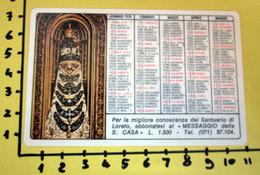 SANTUARIO DI LORETO 1976 CALENDARIO TASCABILE PLASTIFICATO - Calendarios