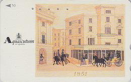 Télécarte Japon / 110-011 - MODE Anglaise - AQUASCUTUM OF LONDON / Fashion England Cheval Horse - Japan Phonecard - 132 - Fashion