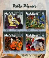 Z08 MLD190307a MALDIVES 2019 Pablo Picasso MNH ** Postfrisch - Maldives (1965-...)