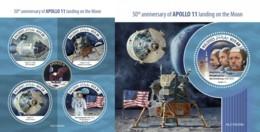 Z08 MLD190309ab MALDIVES 2019 Apollo 11 Moon Landing MNH ** Postfrisch - Maldives (1965-...)