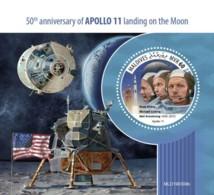 Z08 MLD190309b MALDIVES 2019 Apollo 11 Moon Landing MNH ** Postfrisch - Maldives (1965-...)