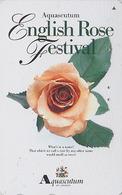 Télécarte Japon / 110-016 - AQUASCUTUM OF LONDON / England - FLEUR ROSE - ENGLISH FESTIVAL Japan Phonecard 134 - Flowers