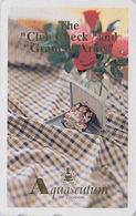 TC Japon / 110-011 - MODE Anglaise AQUASCUTUM OF LONDON / England - Rose / Club Check & Blason - Japan Phonecard - 135 - Fashion