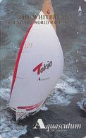 TC Japon / 110-011 - Pub AQUASCUTUM OF LONDON  Fashion England - BATEAU VOILIER - SHIP RACE Japan Phonecard - 140 - Boats