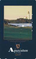TC Japon / 110-016 - Pub AQUASCUTUM OF LONDON  Fashion England - PHARE & GOLF Sport  - LIGHTHOUSE Japan Phonecard - 142 - Lighthouses