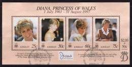 Kiribati 1977 Diana, Princess Of Wales Minisheet Used - Kiribati (1979-...)