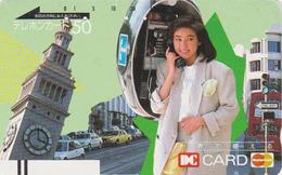 Télécarte Ancienne Japon / 110-19271 - FEMME Téléphone & BIG BEN - England Rel Japan Front Bar Phonecard / B - Site 148 - Japan