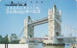 TC Ancienne Japon / 110-011- ANGLETERRE - TOWER BRIDGE - England Rel Japan Front Bar Phonecard / A - Site 150 - Japan